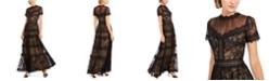 Tadashi Shoji Illusion-Neck Gown