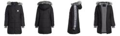 Calvin Klein Big Girls Hooded Puffer Jacket With Faux-Fur Trim