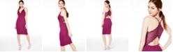 Emerald Sundae Juniors' Lace-Back Bodycon Dress