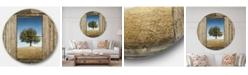Design Art Designart Oversized Farmhouse Round Metal Wall Clock