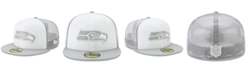 New Era Seattle Seahawks White Cloud Meshback 59FIFTY Cap