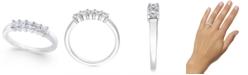 Macy's Diamond 5-Stone Princess Band (1/2 ct. t.w.) in 14k White Gold