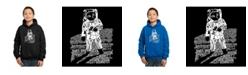 LA Pop Art Boy's Word Art Hoodies - Astronaut