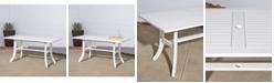 VIFAH Bradley Outdoor Rectangular Dining Table with Curvy Legs