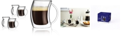 JoyJolt Caleo Double Wall Insulated Coffee Mugs, Set of 4