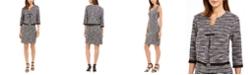Connected Tweed Dress & Fringe Jacket