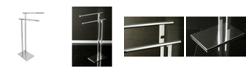 Kingston Brass Double L Shape Pedestal Towel Holder in Polished Chrome