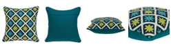 Parkland Collection Handmade Itza Traditional Multicolored Pillow Cover