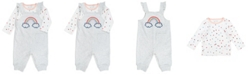 Mac & Moon Baby Girl 2-Piece Rainbow Tee and Overalls Outfit Set