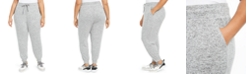 Ideology Plus Size Knit Jogger Pants, Created For Macy's