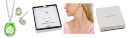 Unwritten 2-Pc. Set Mini Birthstone Crystal Pendant Necklace & Stud Earrings in Fine Silver-Plating, Created for Macy's