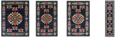 Bridgeport Home Sahil Sah4 Navy Blue Area Rug Collection