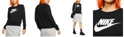 Nike Women's Sportswear Essential Logo Fleece Sweatshirt