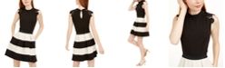 Speechless Juniors' Lace-Trim Shimmer Striped Dress, Created for Macy's