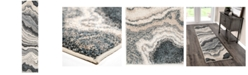 """Palmetto Living Mystical Cascade Taupe Inkwell 2'3"""" x 8' Runner Rug"""