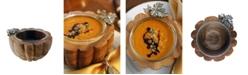 Vagabond House Pewter Autumn Vine Dip Bowl Diameter with Glass Insert