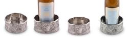 Vagabond House Wine Bottle Coaster Handcraft Pewter Acorn and Oak Leaf Pattern