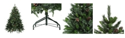 Northlight Snowy Delta Pine with Pine Cones Artificial Christmas Tree - Unlit