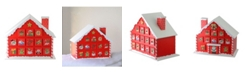 """Northlight 10.25"""" Red and White Advent House with Chimney Storage Box"""