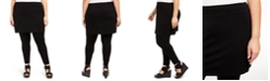 Eileen Fisher Plus Size Stretch Jersey Knit Skirted Leggings, Created for Macy's