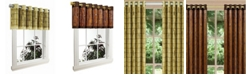 Versailles Home Fashions Tortoise Shell Bamboo Grommet Top Collection