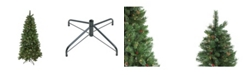Northlight Pre-Lit Mixed Pine and Iridescent Glitter Medium Artificial Christmas Tree - Clear Lights