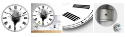 "Designart Rose 10 X-Ray Large Cottage Wall Clock - 36"" x 28"" x 1"""