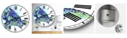 "Designart Sea Turtle Oversized Cottage Wall Clock - 36"" x 28"" x 1"""