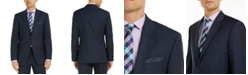 Tommy Hilfiger Men's Modern-Fit Navy Mini Grid THFlex Suit Jacket