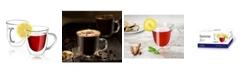 JoyJolt Serene Double Wall Coffee/Tea Glasses Set of 2