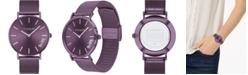 COACH Women's Perry Purple Ion-Plated Mesh Bracelet Watch 36mm