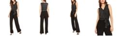 NY Collection Petite Sleeveless Glitter Jumpsuit