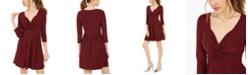 Planet Gold Juniors' Long-Sleeve Twist-Front Dress