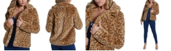 GUESS Reckless Animal-Print Faux-Fur Coat