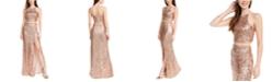 Emerald Sundae Juniors' 2-Pc. Sequinned Halter Dress