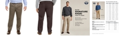 Dockers Men's Big & Tall Signature Lux Cotton Classic Fit Pleated Creased Stretch Khaki Pants