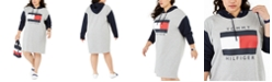 Tommy Hilfiger Plus Size Colorblocked Hoodie Sweatshirt Dress