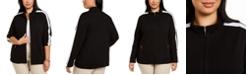 Karen Scott Plus Size Zip-Up Jacket, Created for Macy's
