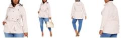 Michael Kors Plus Size Hooded Raincoat