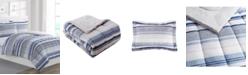 Mytex Chase Stripe Reversible Comforter Set
