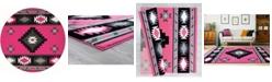 "Asbury Looms Bristol Caliente 2050 10486 88R Pink 7'10"" Round Rug"