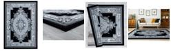 "Asbury Looms Bristol Fallon 2050 10571 24 Silver 1'10"" x 2'8"" Area Rug"