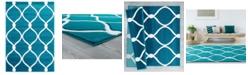 """Asbury Looms Bristol Rodanthe 2050 11569 28C Turquoise 2'7"""" x 7'4"""" Runner Rug"""
