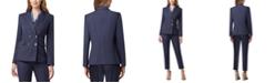Tahari ASL Pinstripe Double-Breasted Suit Blazer
