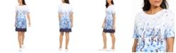 Karen Scott Petite Floral-Print Dress, Created For Macy's