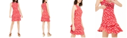 Michael Kors Printed Flounce Dress, Regular & Petite