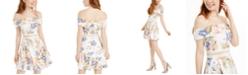 B Darlin Juniors' Off-The-Shoulder A-Line Dress