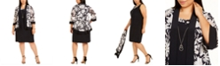 R & M Richards Plus Size Mesh Floral Jacket & Dress