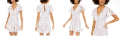 City Studios Juniors' Lace Faux-Wrap Dress
