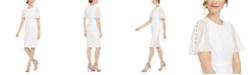 Calvin Klein Petite Chiffon-Sleeve Sheath Dress